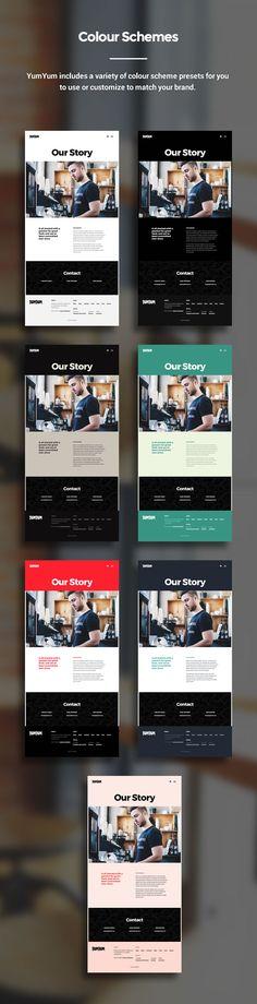 Wordpress theme - Restaurant & Business WordPress Theme - modern, creative design.