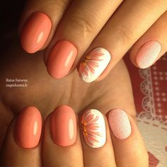 nailart nails manicure маникюр дизайн ногтей Peach Nail Art, Peach Nails, Purple Nails, Nail Art Hacks, Gel Nail Art, Nail Manicure, Wow Nails, Cute Nails, Spring Nails