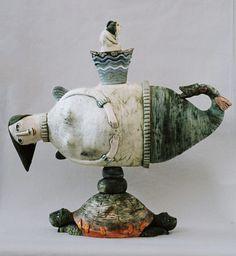Clay figurine artists from Abramtsevo: Galina Bulganin  / The Creative Process.