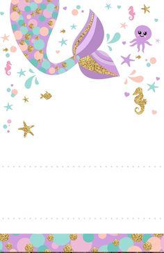 Mermaid Theme Birthday, Little Mermaid Birthday, Baby Boy Birthday, Diy Birthday, The Little Mermaid, Mermaid Party Decorations, Mermaid Parties, Mermaid Party Invitations, Birthday Invitations