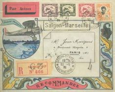 Envelope: Cerdyn - 1934. So much beauty in a tiny place! Mail Art #mailart #snailmail #happymail
