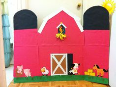 Barn i made for my son's 2nd birthday farm themed party