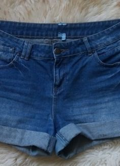 Kup mój przedmiot na #vintedpl http://www.vinted.pl/damska-odziez/szorty-rybaczki/13901884-spodenki-szorty-jeansowe-wysoki-stan-40-42-12