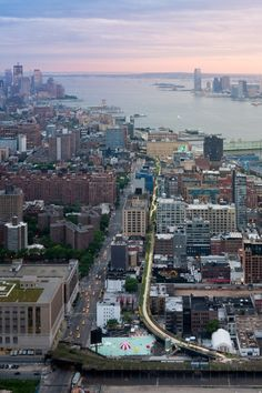 Aerial View, from West 30th Street, looking South toward the Statue of Liberty and the World Trade Center site. Image © Iwan Baan, 2011 (Section 2)
