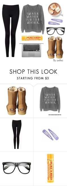 """Lazy Days"" by ellixo ❤ liked on Polyvore featuring UGG Australia, Forever 21, INDIE HAIR, Burt's Bees, LazyDay and sweaterweatherisbetter"