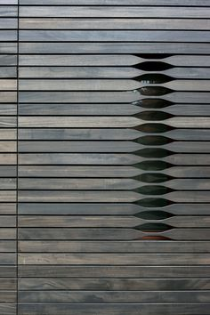 Wooden detail Newton House in Massachusetts by NADAAA