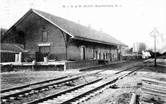 Blairstown's NYS&W Railroad Station and Yard were located across the Paulinskill River. Dating to 1877, the station was a main line depot until passenger service was halted in 1938.