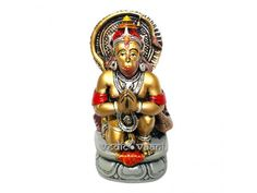 Lord Hanuman Idols, Buy Hanuman Statues Mace online VedicVaani.com Pawanputra, Monkey god. Buy Lord Hanuman Murti, Monkey God, Bajrangbali, Maruti online to USA. Buy pavanputra deity idol online, ram bhakt hanuman idol for gifts online for sale free shipping. Lord Hanuman sits in front of Rama with His hands folded in obeisance and as a sign of devotion to Lord Rama. The sthala puranam Rama spoke to Hanuman personally and in confidence and gave him some special signs by which he could