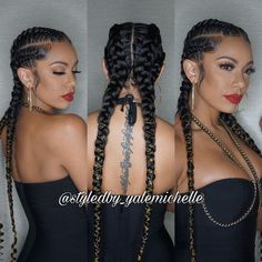 43 Cool Blonde Box Braids Hairstyles to Try - Hairstyles Trends Feed In Braids Hairstyles, Black Hairstyles, 2 Feed In Braids, 4 Braids Hairstyle, Black French Braid Hairstyles, Braid Hairstyles With Weave, Cainrow Hairstyles, Teenage Hairstyles, Curly Hair Styles