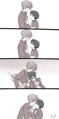 http://ichbinderjeager.deviantart.com/art/How-to-kiss-a-guy-taller-than-you-SnK-paro-461437464