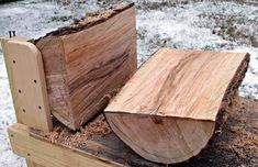 Use this bench and a chainsaw to make bowl and spindle blanks for woodturning.