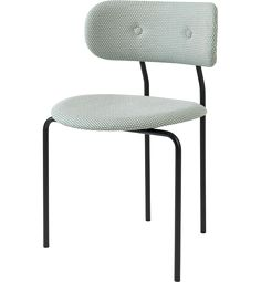 Coco Chair Fully Upholstered   Designed by OEO Studio   From Gubi   Color MC741D35 with black frame