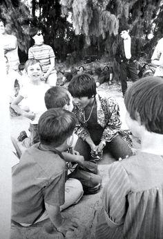 Davy Jones on the set of HEAD — 1968