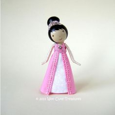 Idea for Princess clothes peg doll :-)