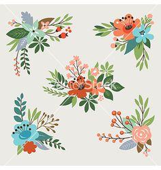 Floral design elements vector art