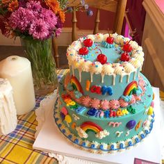 Pretty Birthday Cakes, Pretty Cakes, Cute Baking, Cute Desserts, Just Cakes, Let Them Eat Cake, Cake Designs, Amazing Cakes, Cupcake Cakes
