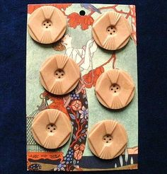 Vintage Art Deco buttons a set of six dating by TheLadyatSkiers, £24.00