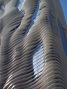 """Dying to see this building (called """"Aqua"""") in Chicago. Great article in the New Yorker about it, less than a year ago maybe?"""