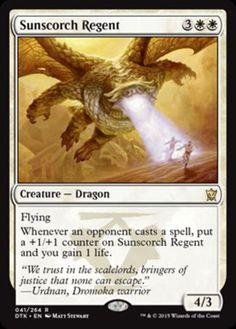 mtg-GREEN-WHITE-DROMOKA-DRAGON-DECK-Magic-the-Gathering-rare-cards