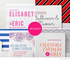 How to pick the perfect font for modern wedding invitations.