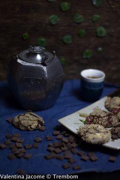 Cookies de chocolate, e banana - Trem Bom