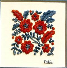 Hungarian embroidery |Pinned from PinTo for iPad| … #folkembroidery #EmbroideryChainStitch