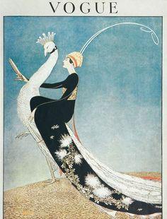 This is beautiful. Description: Vogue Cover, April 1918. From Vogue Magazine Archive website.