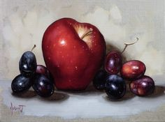 Red Apple Black Grapes by Clinton Hobart