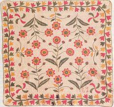 Pine Ridge Quilter-I like the haphazard flowers. Quilt Block Patterns, Applique Patterns, Applique Designs, Quilting Designs, Quilt Blocks, Pattern Designs, Antique Quilts, Vintage Textiles, Vintage Quilts