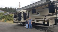 DIANE AND JOSEPH's new 2016 Jayco Pinnacle 31RETS! Congratulations and best wishes from Clear Creek RV Center and Marc Plum.