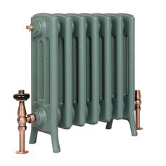 Farrow & Ball Green Smoke No. 47 finish for cast iron radiators Old Radiators, Column Radiators, Cast Iron Radiators, Painted Radiator, Traditional Radiators, Radiator Valves, Lounge, Shabby, Farrow Ball