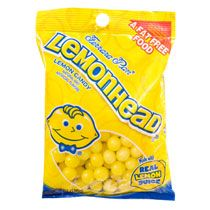 Bulk Ferrara Pan Lemonhead Lemon Candies, 7-oz. Bags at DollarTree.com: Add these candies into cold lemonade or fill small glass vases with them to add bright spots of color.