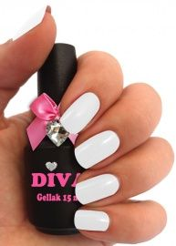 Diva Gel Lak Pastel Pistache 15 ml Pure White, Diva, Pastel, Polish, Pure Products, Nails, Beauty, French, Pistachio