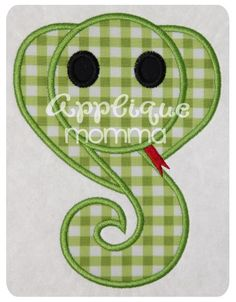 Snake Applique Design