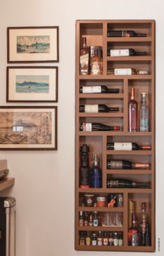 What to Look for in a Wine Rack – Drinks Paradise Wine Shelves, Bar Shelves, Mini Bars, Wine House, Bookcase Styling, Interior Design Living Room, Diy Furniture, Diy Home Decor, Sweet Home