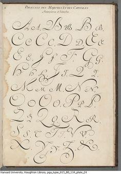 Alais de Beaulieu, Jean Baptiste, -1688. L'art d'ecrire, 1680. TypW 615.80.134 Houghton Library, Harvard University