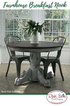 Gray Chalk Paint Dining Set