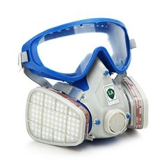 Silicone Full Face Respirator Gas Mask & Goggles Comprehensive Cover Paint Chemical Pesticide Mask Dustproof Fire Escape