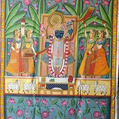 Beautiful pichwai painting #pichwai#art#handmade#wall hanging#home decor #call us #+91 7023838410/ +91 7300070719