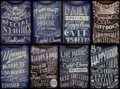 Chalkboards (by Christian Cantiello) – These are phenomenal. Awesome talent and use of various typography styles.