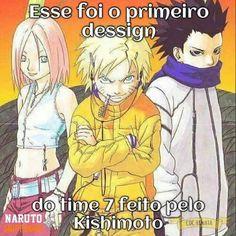 Team 7 - The first Design of Kishimoto :))) Haha, they look so much modern ♥ Naruto looks a little creepy and Sasuke isn't hot at all. Anime Naruto, Naruto Uzumaki, Hinata, Manga Anime, Naruto Meme, Naruto Art, Otaku Anime, Manga Art, Sasunaru