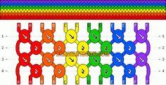 Normal Friendship Bracelet Pattern #8882 - BraceletBook.com
