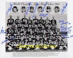 Green Bay Packers Team | 1962 Green Bay Packers 8x10 & 11x14 Team Photos