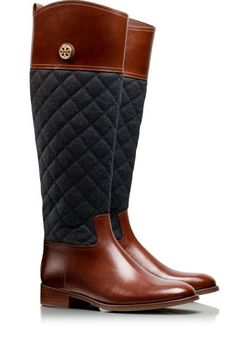 Classic riding boots by Tory Burch #fallmusthave