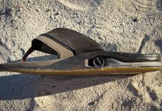 Reef Sandals with built in flask and bottle opener