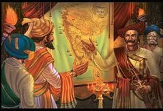 Great king Shivaji discussing strategy with his Military commander