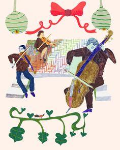 String quartet with a missing Viola playing Bach -Monika Forsberg/Walkyland