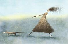 Illustration by Elena Lishanskaya #illustration #dog