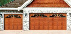 Ideas Wooden Garage Door Makeover For 2019 Garage Door Cost, Faux Wood Garage Door, Single Garage Door, Garage Doors Prices, Overhead Garage Door, Garage Door Makeover, Garage Door Repair, Kitchen Door Designs, Carriage Style Garage Doors