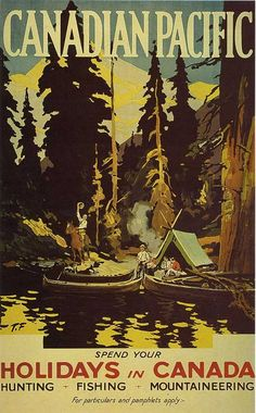 Vintage Canadian Pacific travel tourism poster